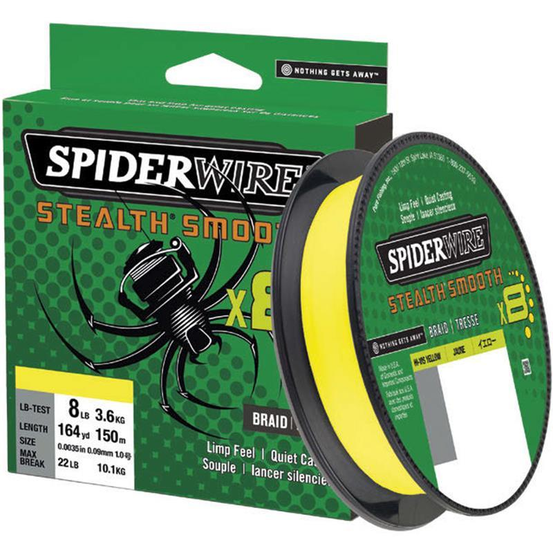 Spiderwire Stealth Smooth Braid Hi Viz Yellow