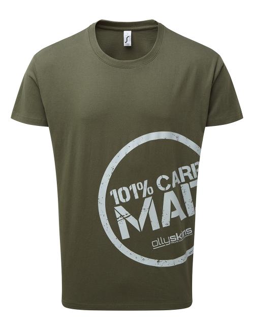 Olly Skins 101% Carp Mad T-Shirt - Green - Large