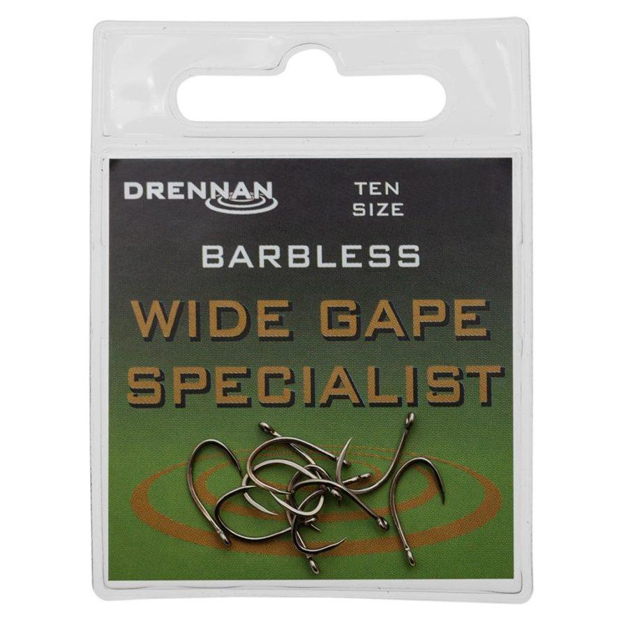 Drennan Barbless Wide Gape Specialist Eyed Hooks