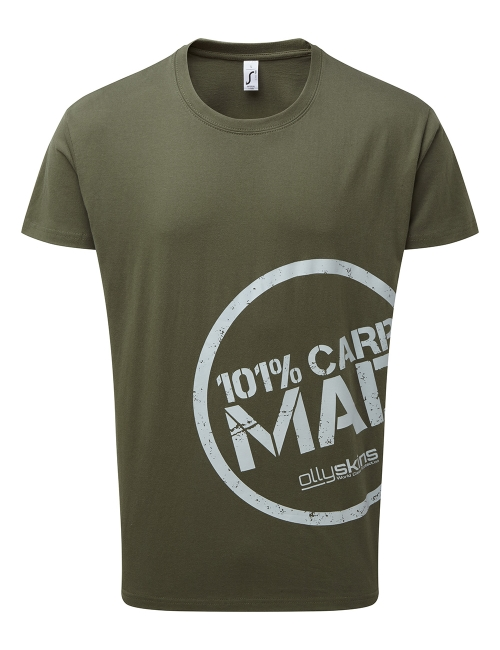 Olly Skins 101% Carp Mad T-Shirt - Green - Large