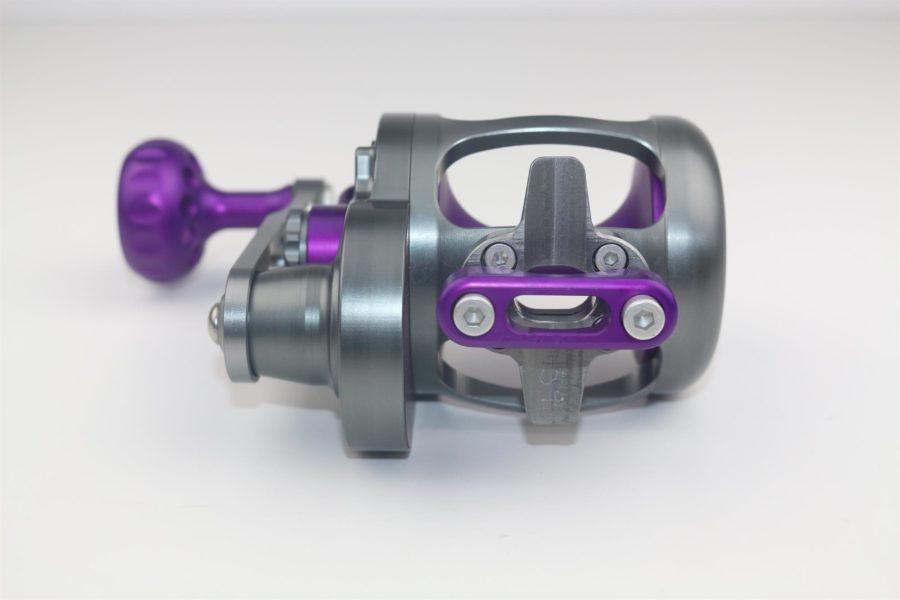 Seigler LG Custom (Large Game) Right Hand Lever Drag Reel - Purple