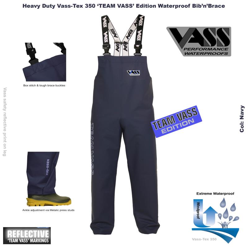 Team Vass 350 Heavy Duty Bib & Brace