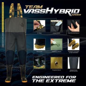 Vass Tex 745 Hybrid Waders Studded