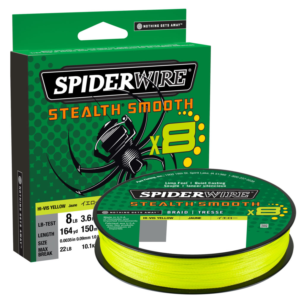Spiderwire Stealth Smooth Braid Hi Viz Yellow 80lb 0.39mm 300m