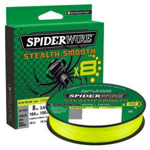 Spiderwire Stealth Smooth Braid Hi Viz Yellow 80lb 0.39mm 300m