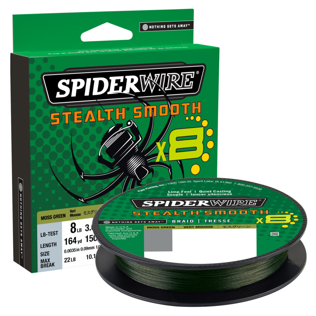 Spiderwire Stealth Smooth Braid Moss Green 0.40mm - 108lb - 240m
